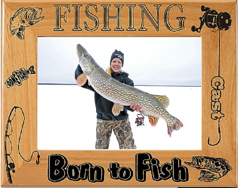 fishing picture frame