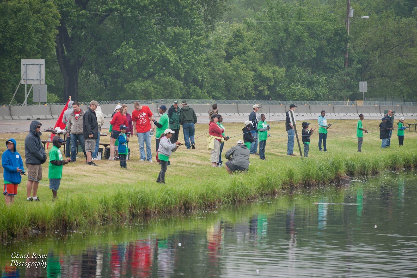inner city youth fishing day
