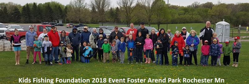 kids fishing foundation 2018 foster arend event rochester mn